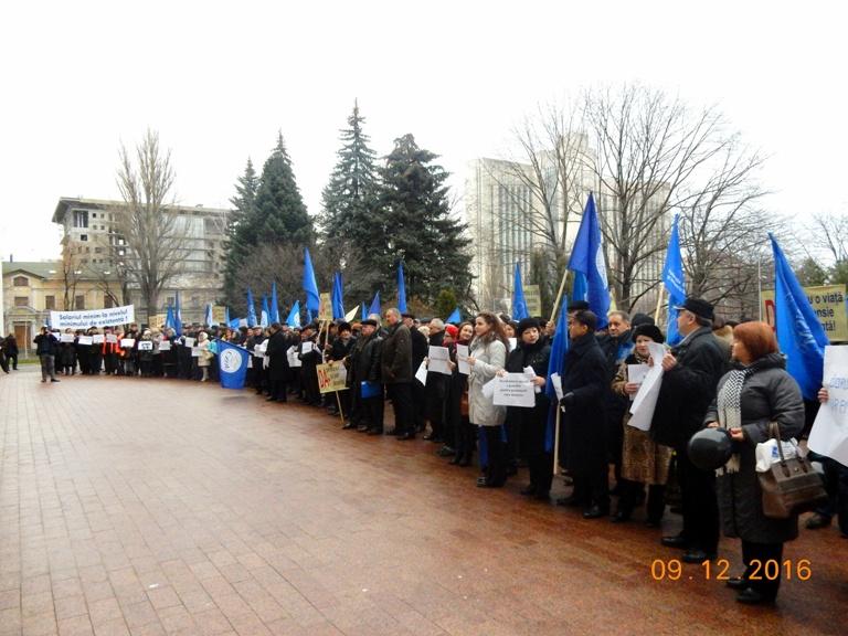 Профсоюзы протестуют