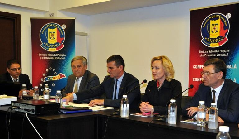 """Делегация   Федерации """"SINDLEX""""  на Национальной Конференции профсоюза полицейских и вольнонаемного состава МВД Румынии"""