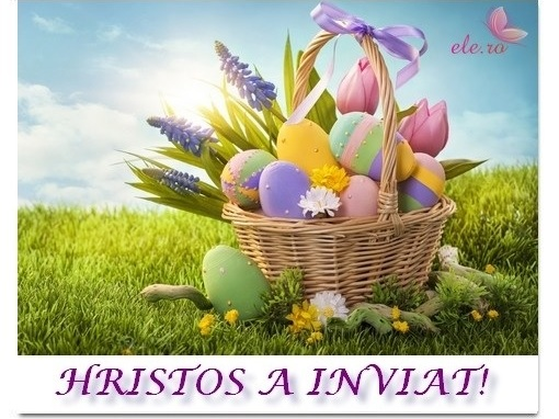 Felicitări cu prilejul Sfintelor Sărbători de Paşti