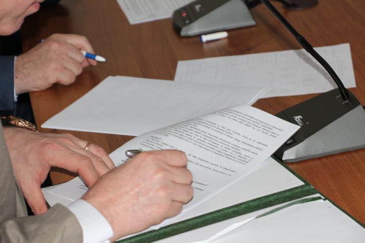 """Şedinţa Comisiei de dialog social """"angajator-salariat""""  la ÎS Servicii Pază a MAI"""