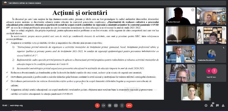 PROVOCĂRILE ANULUI DE STUDIU 2021-2022 ÎN ORGANIZAREA PROCESULUI EDUCAȚIONAL